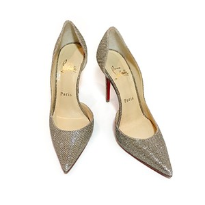 Christian Louboutin Glitter Gold Pumps