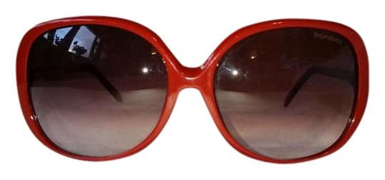 Saint Laurent YSL6329/F/S Red Metal and Plastic Round Sunglasses Image 0