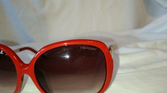 Saint Laurent YSL6329/F/S Red Metal and Plastic Round Sunglasses Image 1