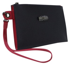 Longchamp Clutch Wristlet in Navy / Pink