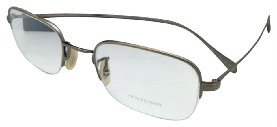 Oliver Peoples New Rushton 1199 5039 Semi-rimless Antique Gold Frame ...