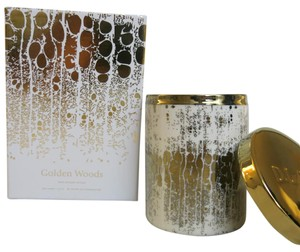 D.L.& Co. White Soleil Candle - Golden Woods Rare Botanic Candle