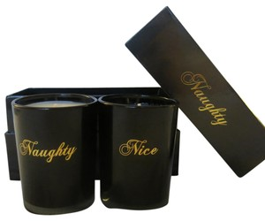 D.L.& Co. D.L. & Co Naughty and Nice Black and Gold Candle Set in Gift Box 8.8oz