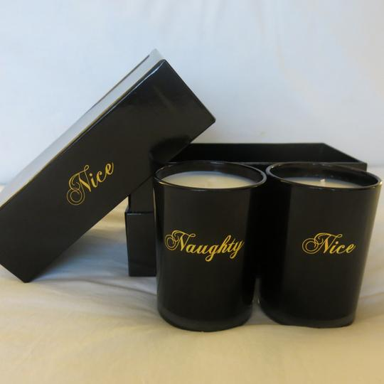 D.L.& Co. D.L. & Co Naughty and Nice Black and Gold Candle Set in Gift Box 8.8oz Image 1