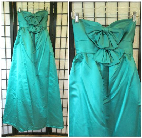 Emerald Green Vintage Ballgown Empire Waist Formal Bridesmaid/Mob Dress Size 0 (XS) Image 1