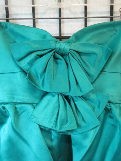 Emerald Green Vintage Ballgown Empire Waist Formal Bridesmaid/Mob Dress Size 0 (XS) Image 3