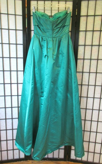 Emerald Green Vintage Ballgown Empire Waist Formal Bridesmaid/Mob Dress Size 0 (XS) Image 4
