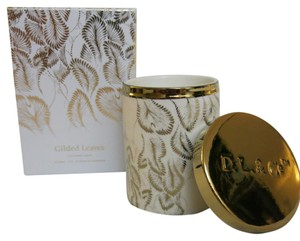 D.L.& Co. White Soleil Candle - Gilded Leaves Rare Botanic Candle