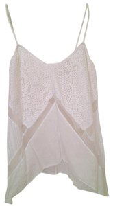 BCBGMAXAZRIA Lace Boho Chic Top White