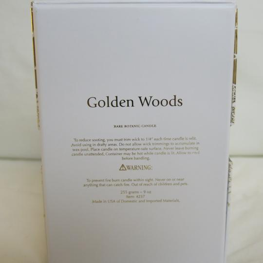 D.L.& Co. White & Gold Soleil Candle - Golden Woods Rare Botanic Candle Other Image 2