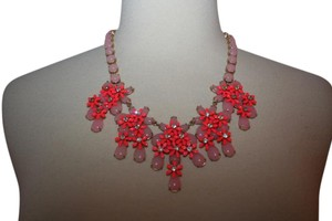 J.Crew J.CREW FLORAL CASCADE NECKLACE CORAL SHELL