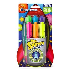 Mr. Sketch Mr. Sketch Scented Markers, Chisel Tip, 7 Packs of 6