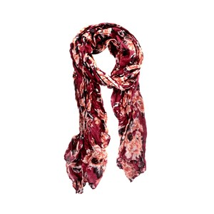 Ivy's Boutique Burgundy Floral Scarf