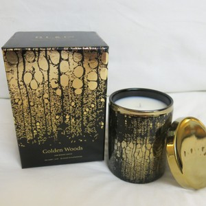 D.L.& Co. Black & Gold Soleil Candle - Golden Woods Rare Botanic Candle Other