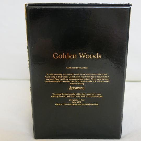 D.L.& Co. Black & Gold Soleil Candle - Golden Woods Rare Botanic Candle Other Image 2