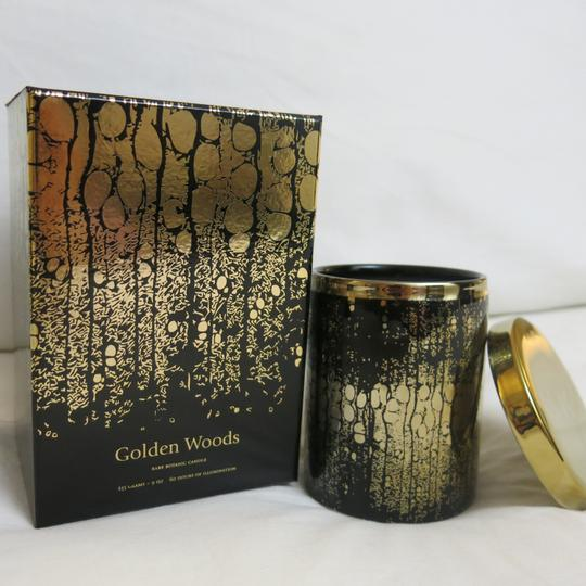 D.L.& Co. Black & Gold Soleil Candle - Golden Woods Rare Botanic Candle Other Image 3