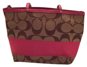 Coach Tote in Brown/Pink