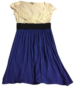 Soprano short dress White, blue and black on Tradesy