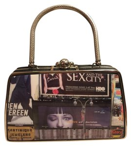 Boutique Pop Art Satchel in Black/Gray/Red