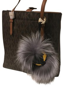 Other Luxury Pom Pom Monster Real Fox Fur Leather Charm Keychain