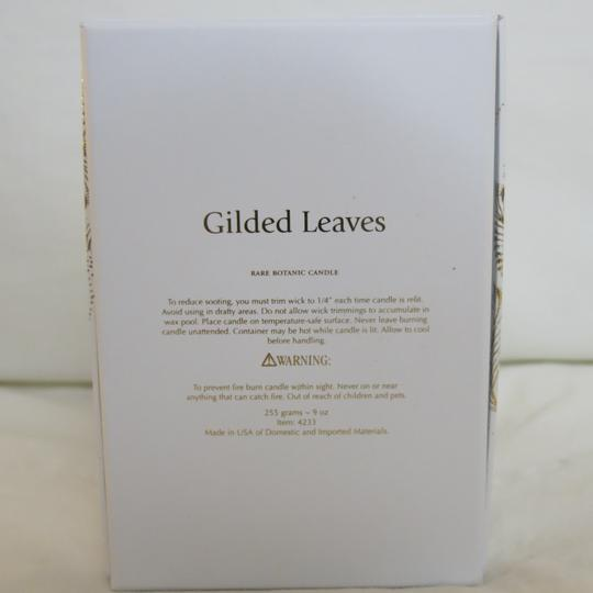 D.L.& Co. White & Gold Soleil Candle - Gilded Leaves Rare Botanic Candle Other Image 2