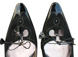 Garolini 9.5 Leather Patent Leather 9.5 black Flats