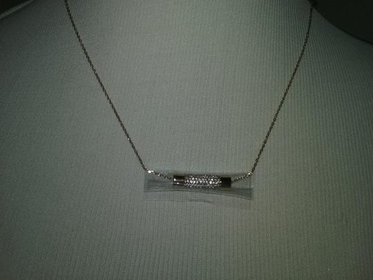Michael Kors Crystal Cylinder Necklace & Cylindrical Earrings Image 1