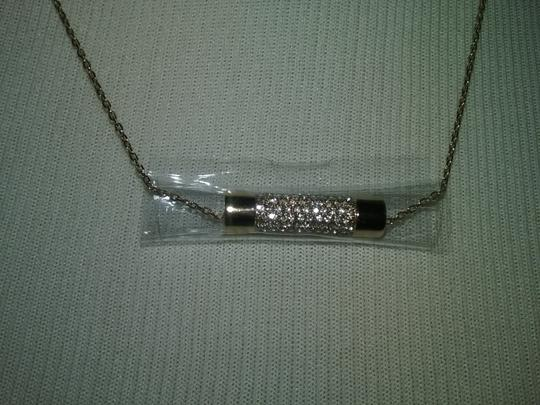 Michael Kors Crystal Cylinder Necklace & Cylindrical Earrings Image 2