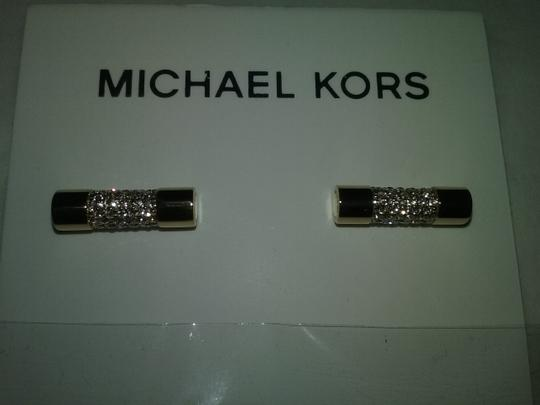 Michael Kors Crystal Cylinder Necklace & Cylindrical Earrings Image 6