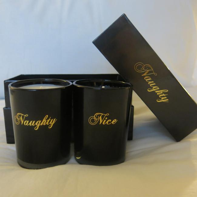 Item - Black & Gold Box L Co Naughty Nice Candle Set -gift Other