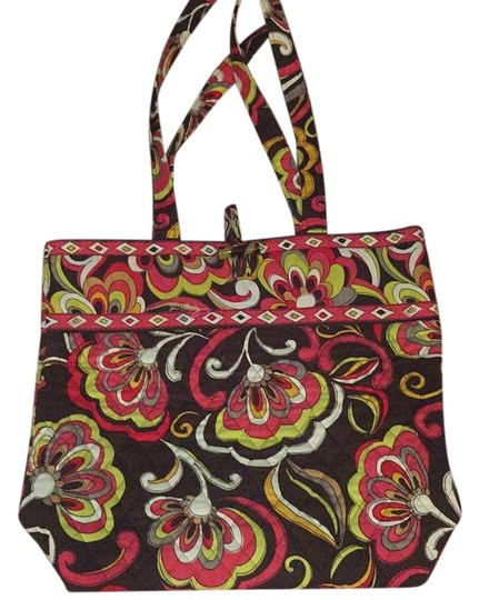 Preload https://img-static.tradesy.com/item/20195056/vera-bradley-puccini-brown-red-green-white-floral-cotton-tote-0-1-540-540.jpg
