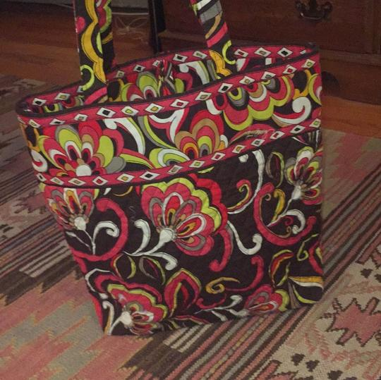 Vera Bradley Tote in Brown, Red, green, white floral