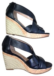 Cole Haan Leather Wedge Black Wedges
