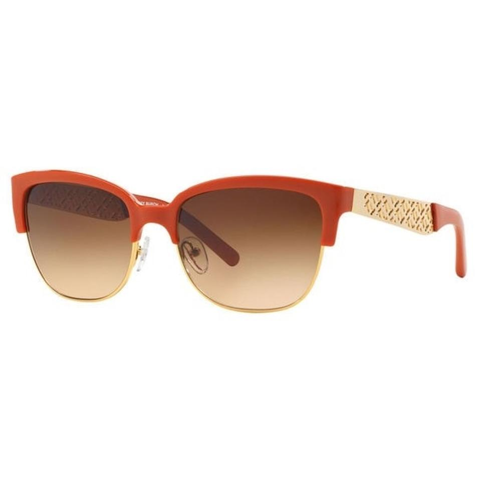 98ebbe729d5 Tory Burch Orange Gold Sunglasses Image 0 ...