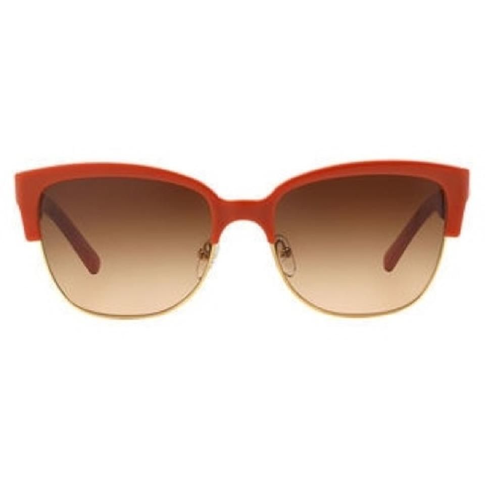 745b342c778 Tory Burch Orange Gold Sunglasses Image 7. 12345678