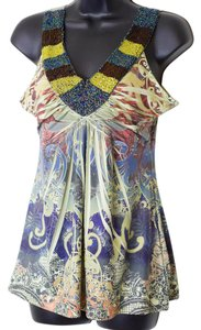 One World Size Medium Top Multi-Colored