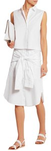 T by Alexander Wang Sleeveless Button Down Shirt White