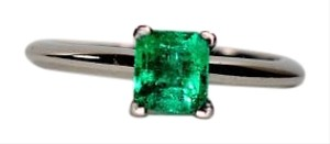 Tiffany & Co. Tiffany & Co .51ct Colombian Emerald Platinum Ring