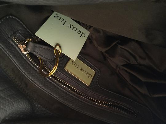 deux lux Gold Hardware Faux Leather Olive green Clutch