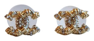 Chanel Brand New winter Chanel CC Gold Plated sweet Earrings