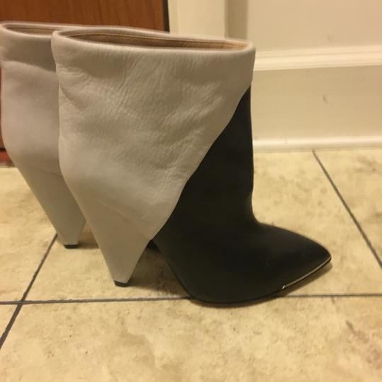 IRO Leather Two-tone Black and white Boots