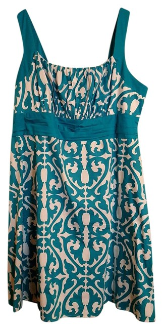 Preload https://img-static.tradesy.com/item/20195358/dress-barn-turquoise-and-white-summer-mid-length-short-casual-dress-size-24-plus-2x-0-1-650-650.jpg