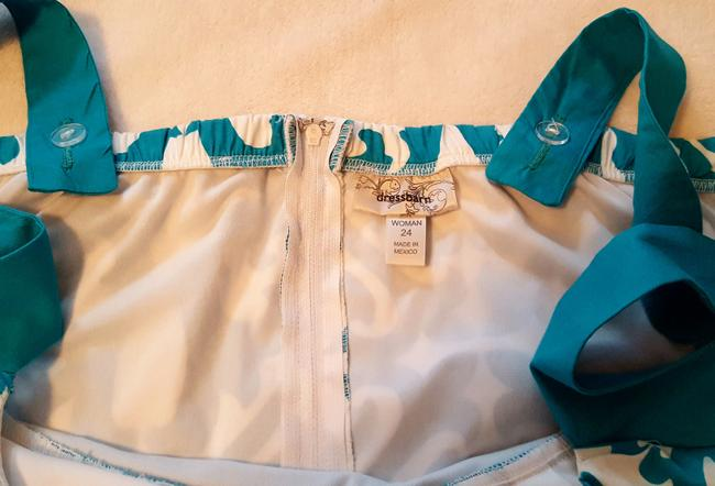 Dress Barn short dress Turquoise and White Summer Spring A-line Plus-size on Tradesy