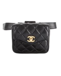 Chanel Waist Pack Fanny Pack Black Clutch