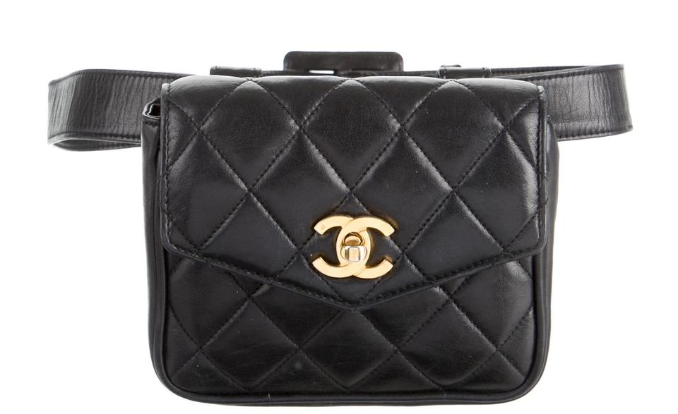 6a7085fb34f8cd Chanel Waist Pack Fanny Pack Materasse Lambskin Black Clutch Image 6.  1234567