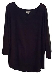 Ava & Viv Spring Fall Plus-size Top Black