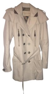 Burberry Brit Trench Leather Canvas Cotton Military Jacket