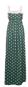 Green Maxi Dress by Juicy Couture Maxi Embroidered Geometric