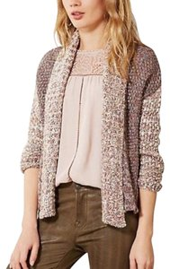Anthropologie Moth Striped Splash Of Color Ruffle Cardigan