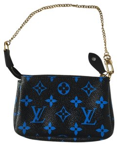 Louis Vuitton Wristlet in Black Blue Monogram